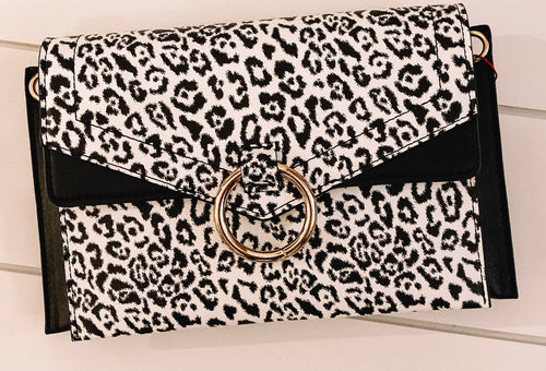 Animal Skin Envelope Clutch