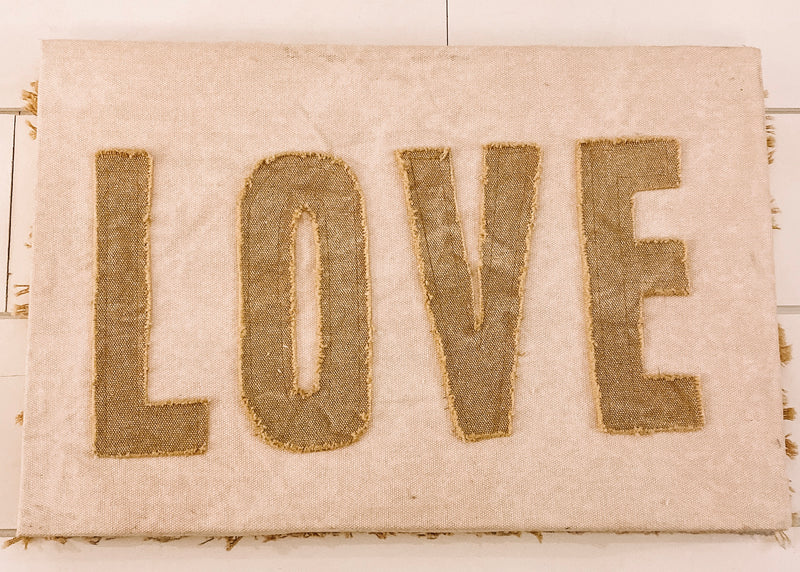 Love-Canvas Sign