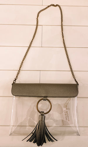 Game Day Pewter Metallic Purse