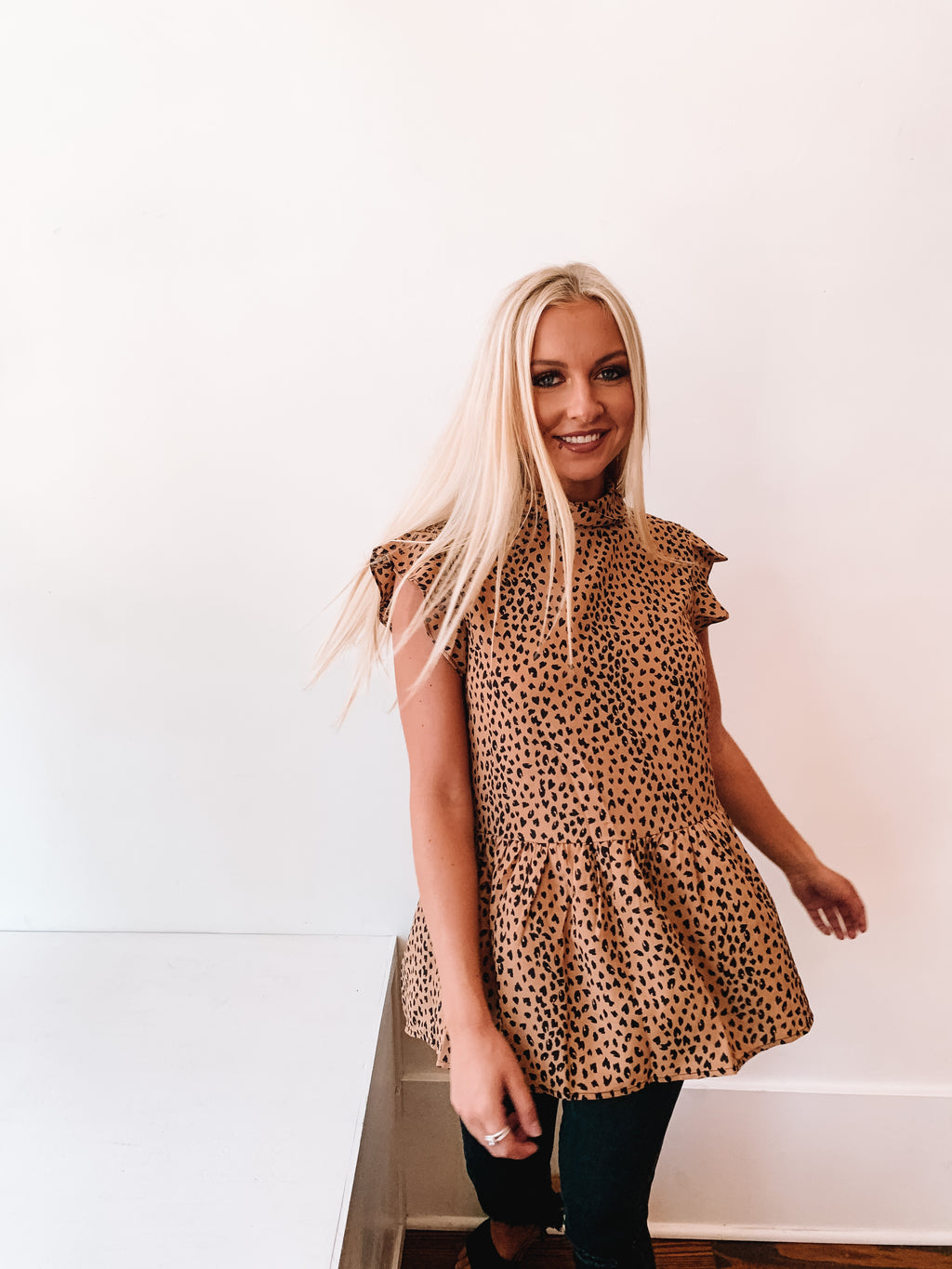 Take Me Out Tonight Leopard Top