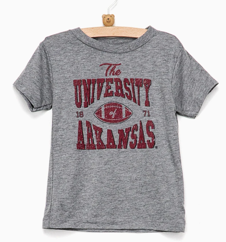 Children's Arkansas Classic Gray Tee
