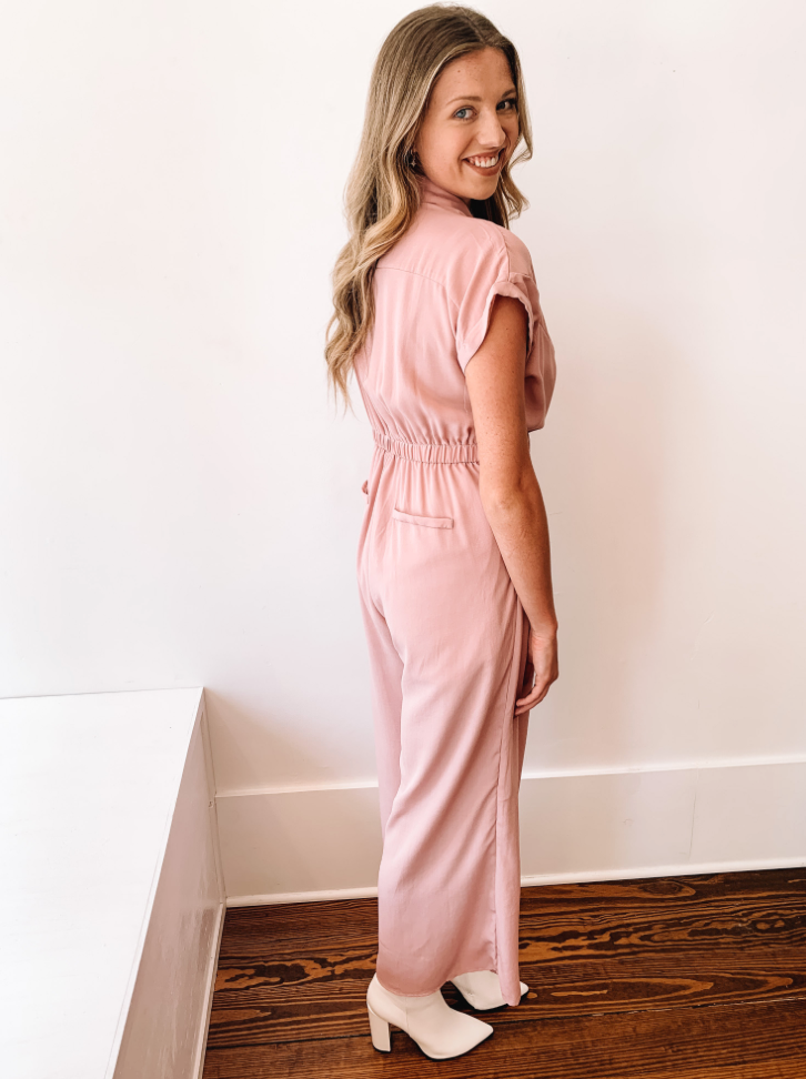 Tied Up Flowy Jumpsuit