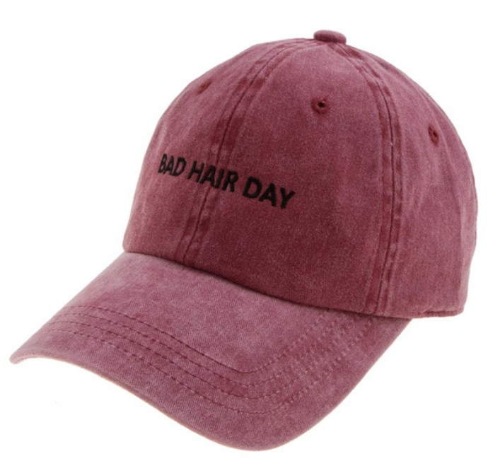 Bad Hair Day Hat -Wine
