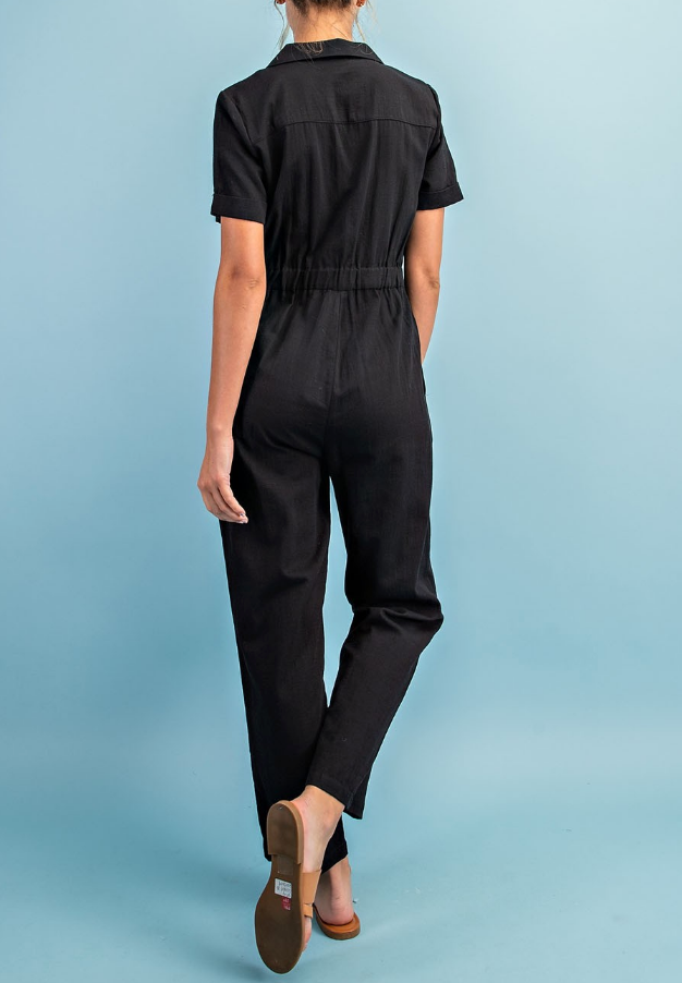 Back To Black Coverall Jumpsuit