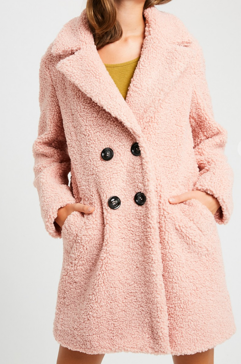 Protect Your Heart Blush Coat