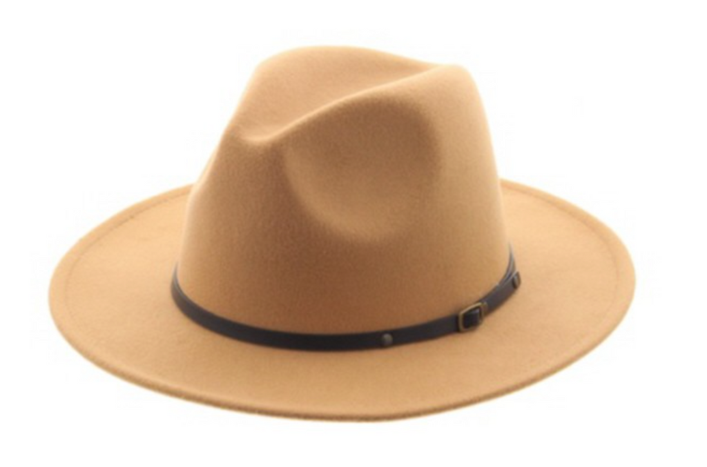 Belted Classic Panama Hat