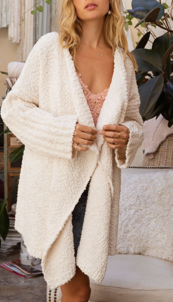 All Day Everyday Ivory Cardigan
