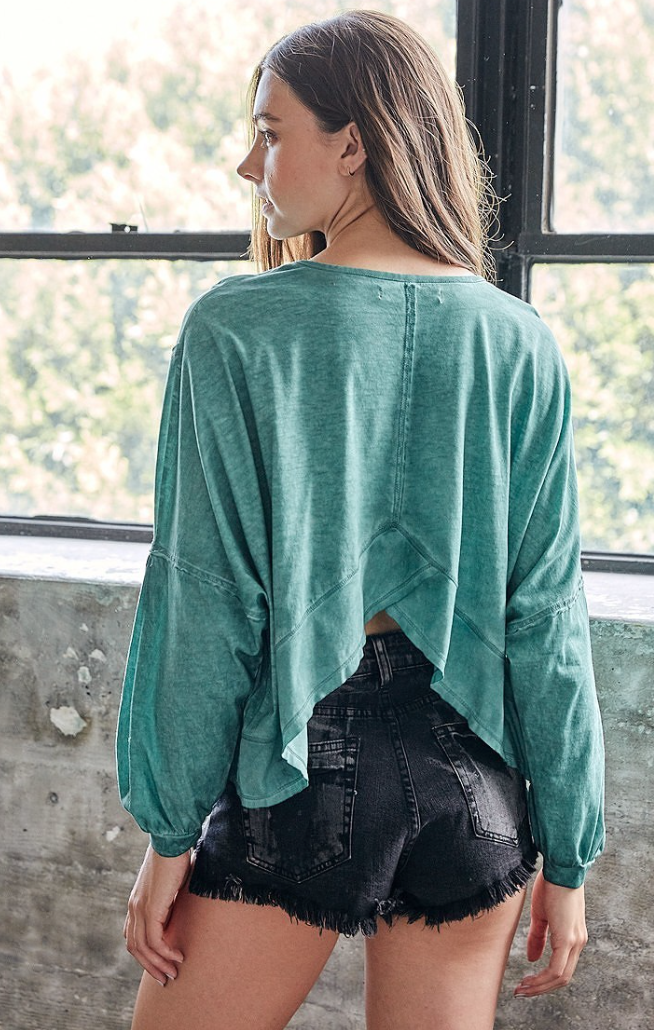 Weekends Away Sage Top