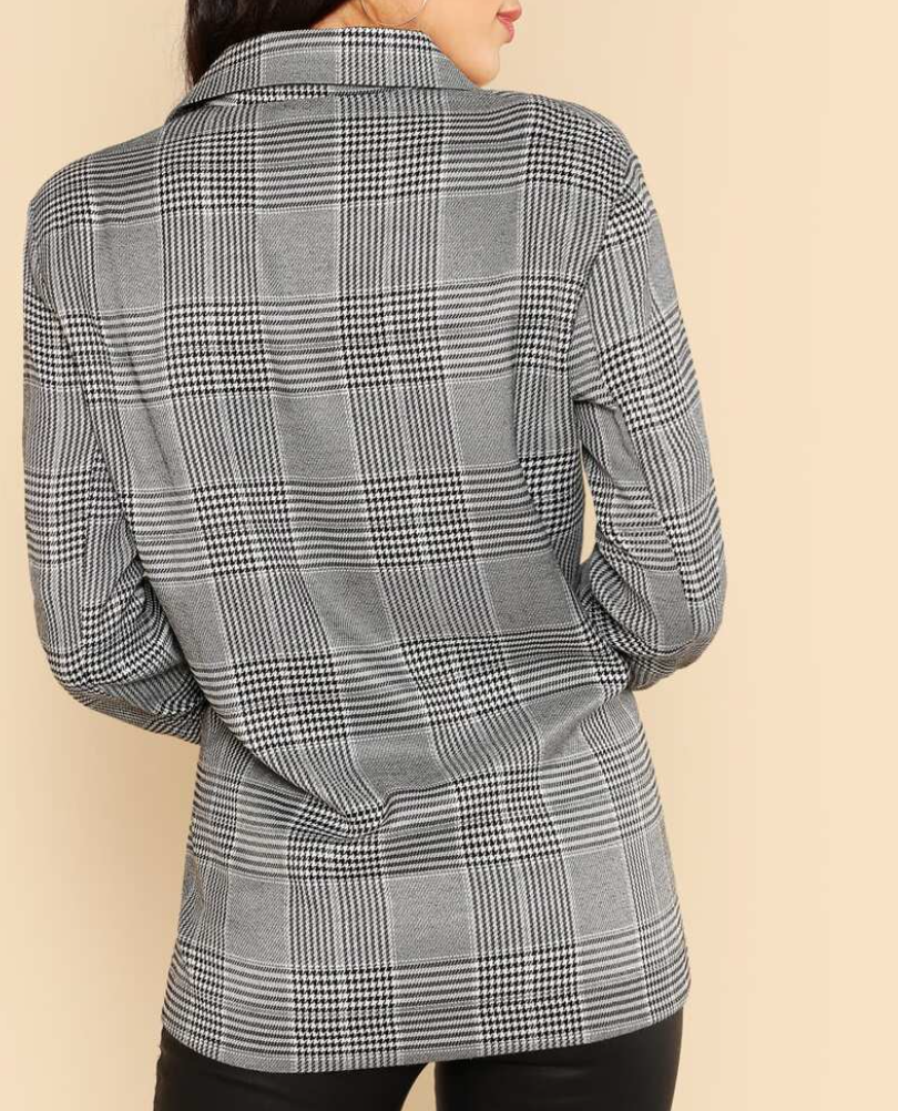 Business As Usual Checked Blazer