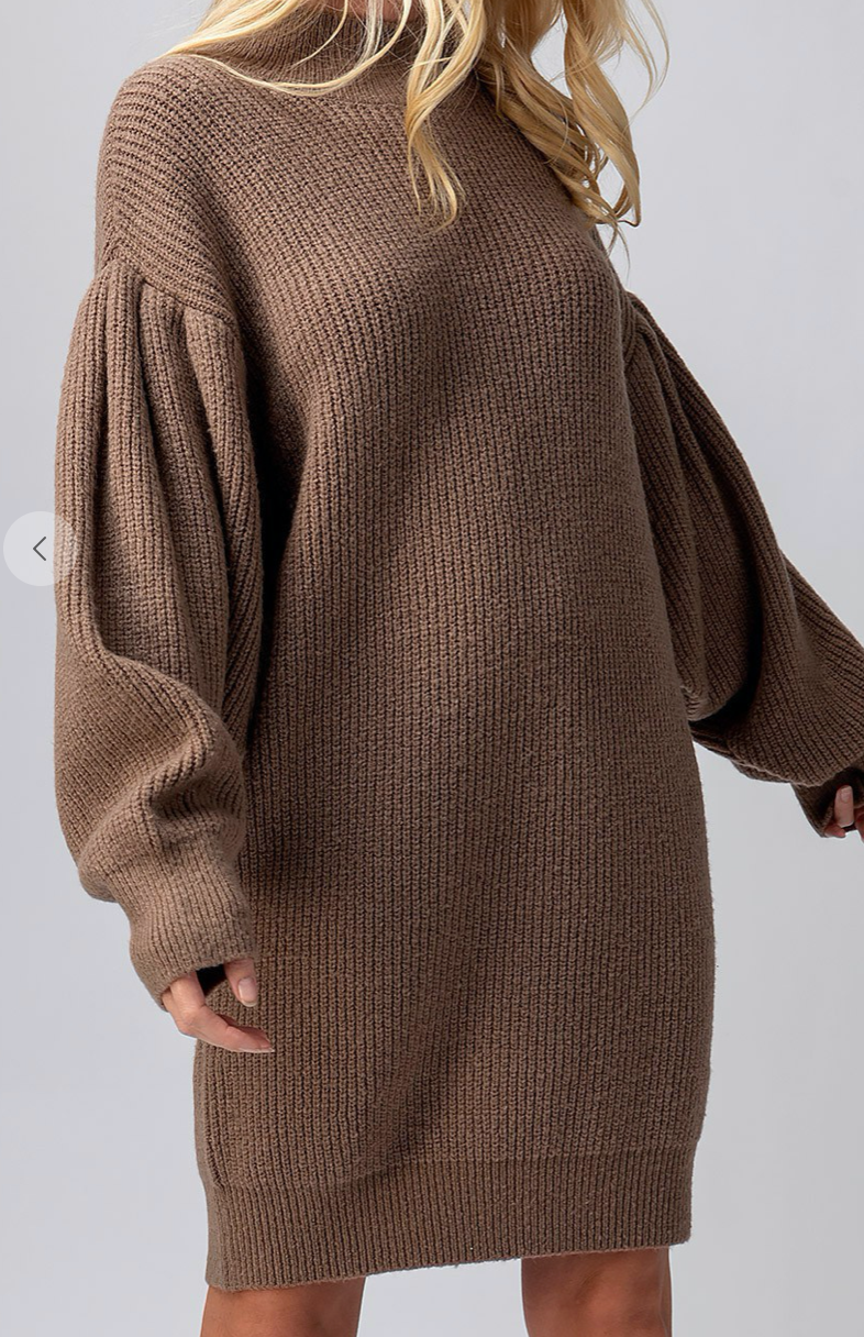 Linley Puff Sleeve Sweater Dress