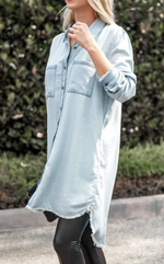 Laid Back Days Button Down Shirt Dress