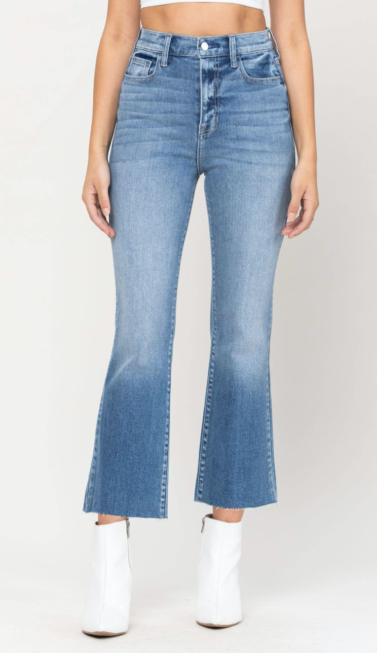 Cello High Rise Cropped Flares