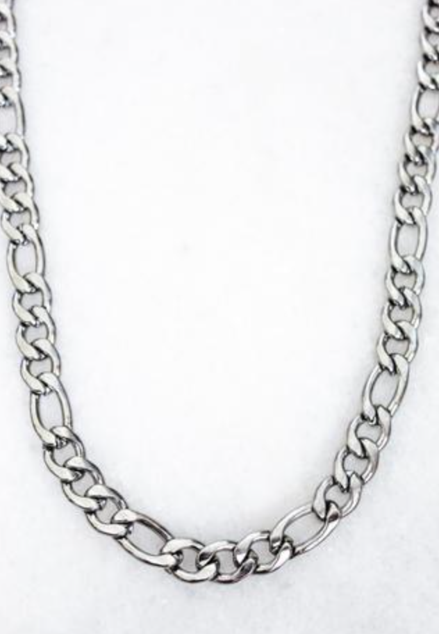 Banks Chain Necklace -Silver