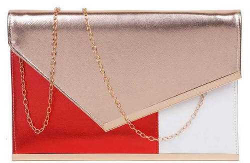 Tri-Color Modern Envelope Clutch