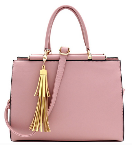 Tassel Accent 3-Compartment Satchel