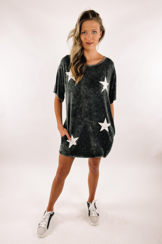 Vintage Vibes Graphic Dress