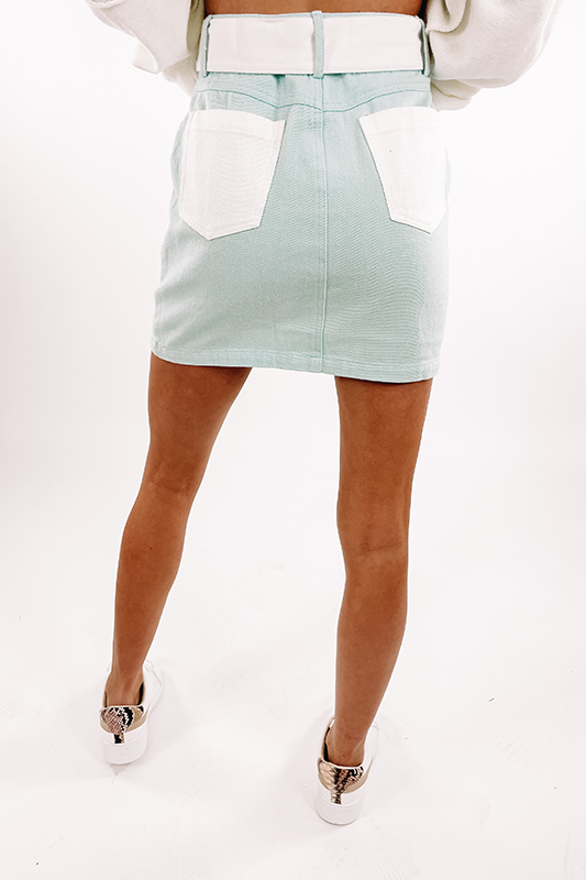 Blue Sky Mini Skirt