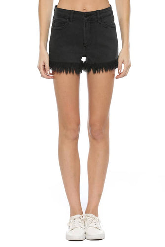 High Rise Fray Shorts