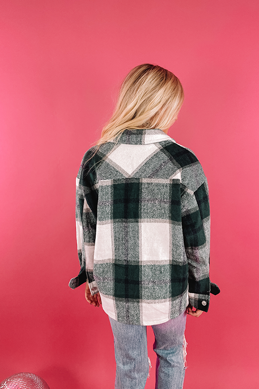 Green Machine Plaid Shacket