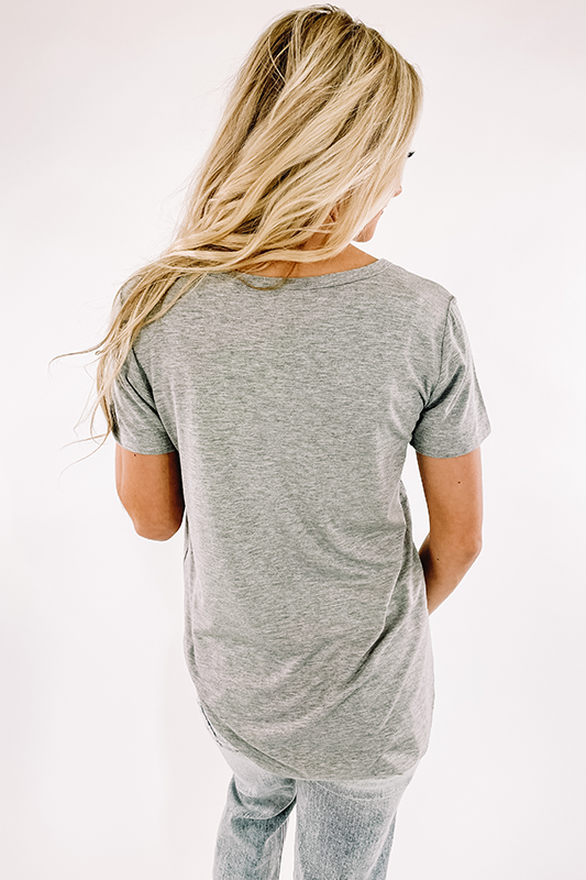 Julie Soft Tee -Heather Grey