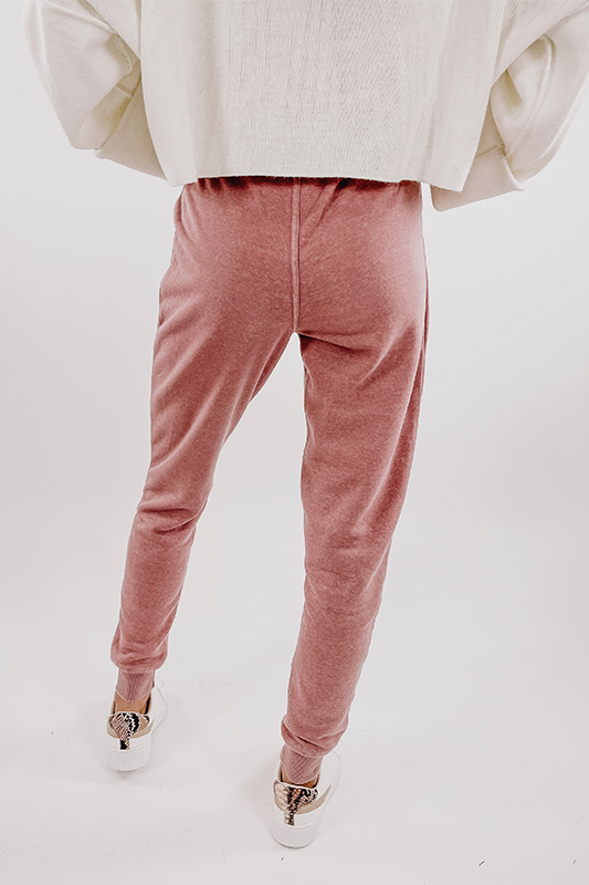 Fleece Joggers -Mauve