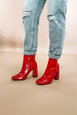 Sloane Booties -Red