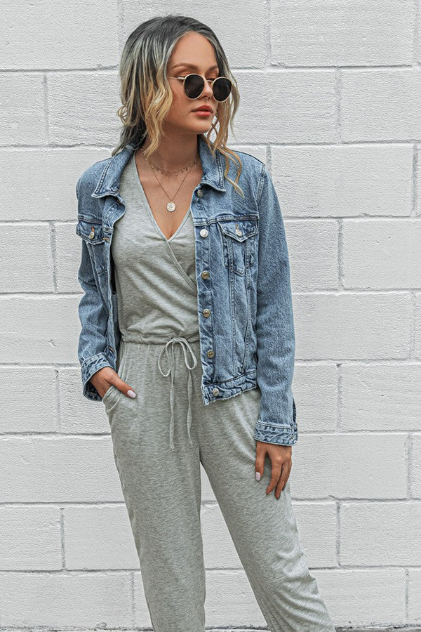 Seize the Day Jumpsuit - Grey