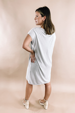 Project Social T: Dolman Dress -Silver Linings