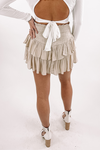 In Your Dreams Smocked Skirt With Shorts -Natural