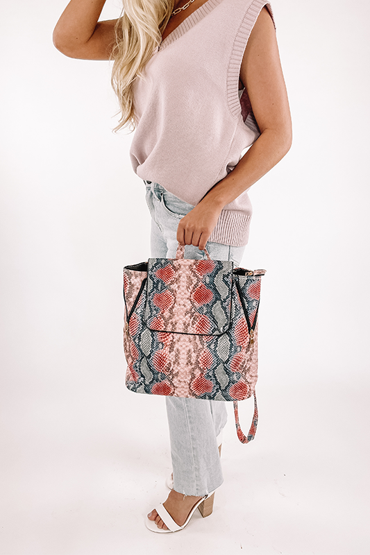 Pink Snake Backpack