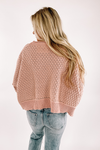 Don't Waste A Moment Sweater-Blush