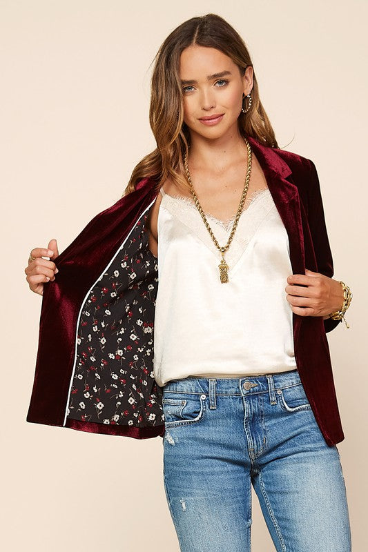 Winter Wonders Velvet Blazer