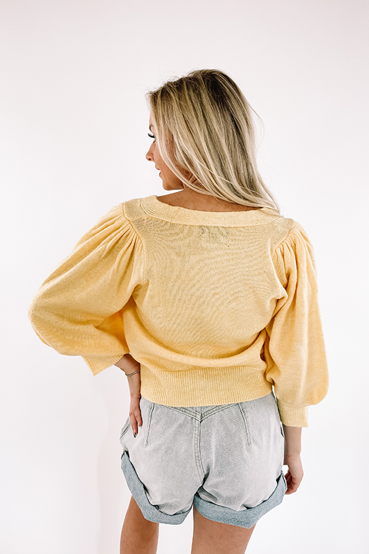 Lila Crop Sweater -Yellow