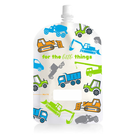 Sinchies Re-usable Food Pouches 150ml - Trucks