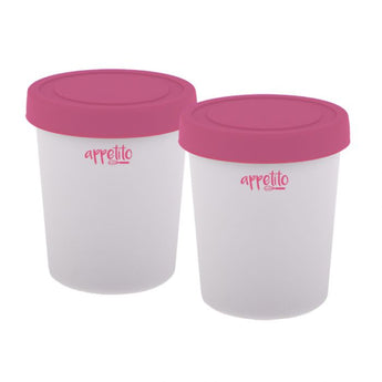 Mini Ice Cream Tub Set (200ml) Pink