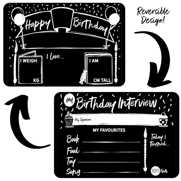 Birthday Board (Monochrome)