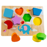 Flying Balloon Shape Puzzle