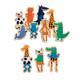 Wooden Magnetic Crazy Animals Set