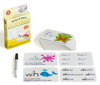 Blending Consonants & Digraphs Flash Cards - Write & Wipe w/marker