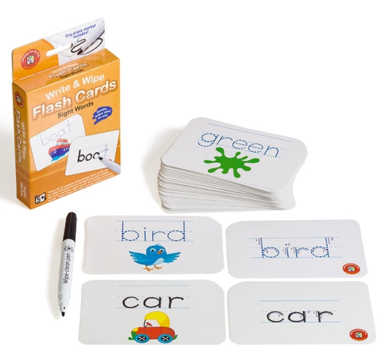 Sight Words Flash Cards - Write & Wipe w/marker