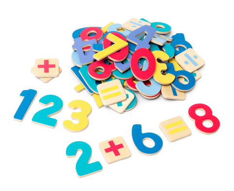 Magnetic Wooden Numbers (Set of 60)