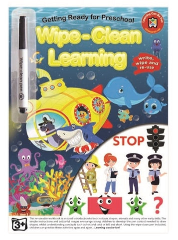 Getting Ready for Pre-School - Wipe-Clean Learning