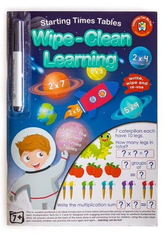 Starting Times Tables - Wipe-Clean Learning