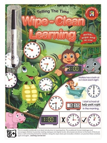Telling The Time - Wipe-Clean Learning