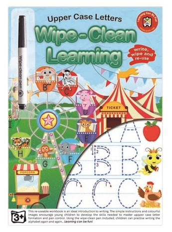 Upper Case Letters - Wipe-Clean Learning