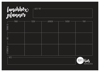 Lunchbox Planner (A4 size)