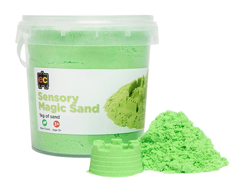 Sensory Magic Sand 1kg Tub Green