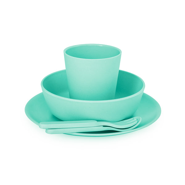 Bobo & Boo Bamboo Dinnerware Set – Mint