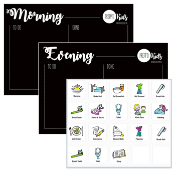 Morning & Evening Routine Set (A4)