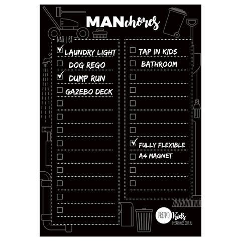 Man Chores (A4 size) - Limited Edition